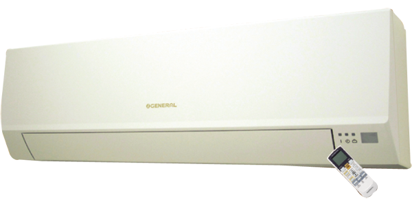 کولر گازی اجنرال اسپلیت دوتکه دیواری 24000