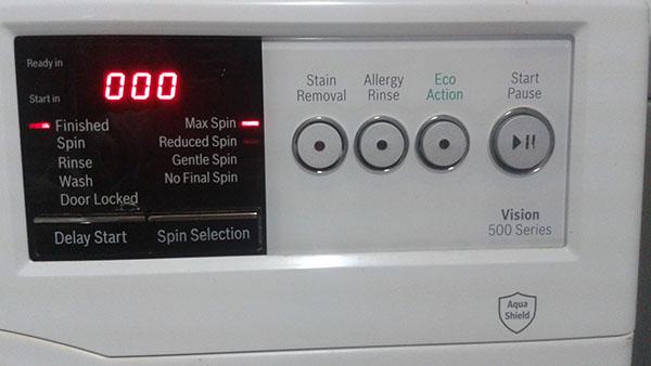 لیست خطاهای ماشین لباسشویی بوش